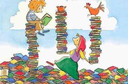τα βιβλία, πέραν από τα οφέλη τους στη γλωσσική ανάπτυξη -προφορική & γραπτή- των παιδιών, καλλιεργούν τη φαντασία
